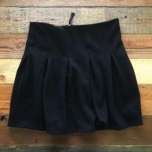 Anthropologie Maeve Black Pleated Skirt NWOT 12